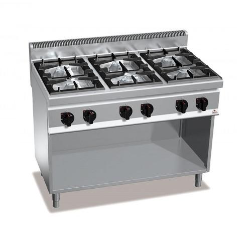 BERTOS G7F6MP Επιδαπέδια Κουζίνα Αερίου χωρίς Φούρνο Με 6 Εστίες - 1200x700x900m επαγγελματικός εξοπλισμός   κουζίνες πλατό φριτέζες βραστήρες  επαγγελματικός εξ