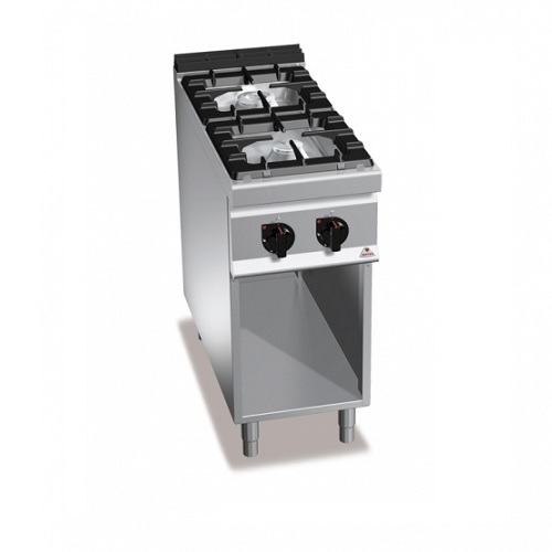 BERTOS G9F2M Επιδαπέδια Κουζίνα Αερίου χωρίς Φούρνο Με 2 Εστίες - 400x900x900mm επαγγελματικός εξοπλισμός   κουζίνες πλατό φριτέζες βραστήρες  επαγγελματικός εξ