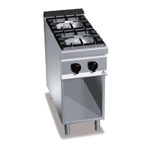 BERTOS G9F2MP Επιδαπέδια Κουζίνα Αερίου χωρίς Φούρνο Με 2 Εστίες - 400x900x900mm επαγγελματικός εξοπλισμός   κουζίνες πλατό φριτέζες βραστήρες  επαγγελματικός εξ