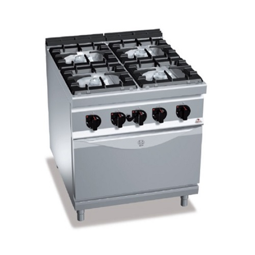 BERTOS G9F4+FG Επιδαπέδια Κουζίνα Αερίου Με Φούρνο Αερίου GN 2/1 & 4 Εστίες - 80 επαγγελματικός εξοπλισμός   κουζίνες πλατό φριτέζες βραστήρες  επαγγελματικός εξ