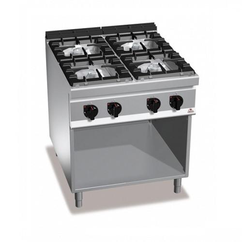 BERTOS G9F4M Επιδαπέδια Κουζίνα Αερίου χωρίς Φούρνο Με 4 Εστίες - 800x900x900mm επαγγελματικός εξοπλισμός   κουζίνες πλατό φριτέζες βραστήρες  επαγγελματικός εξ