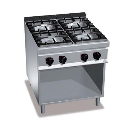 BERTOS G9F4MP Επιδαπέδια Κουζίνα Αερίου χωρίς Φούρνο Με 4 Εστίες - 800x900x900mm επαγγελματικός εξοπλισμός   κουζίνες πλατό φριτέζες βραστήρες  επαγγελματικός εξ