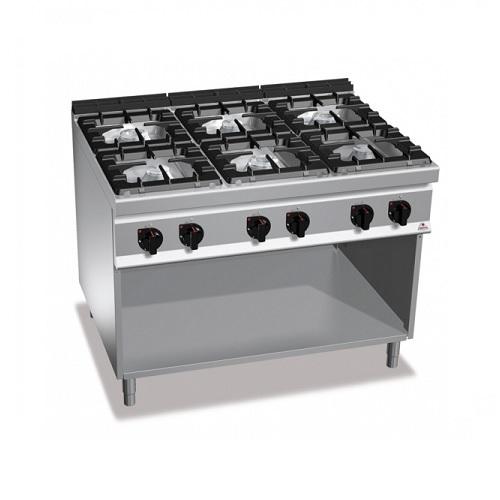 BERTOS G9F6M Επιδαπέδια Κουζίνα Αερίου χωρίς Φούρνο Με 6 Εστίες - 1200x900x900mm επαγγελματικός εξοπλισμός   κουζίνες πλατό φριτέζες βραστήρες  επαγγελματικός εξ