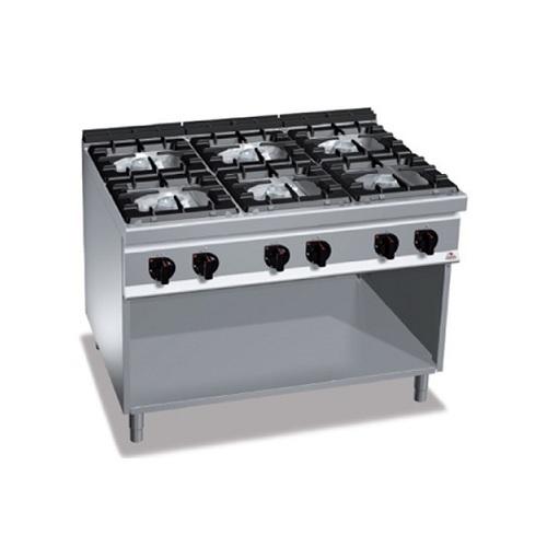 BERTOS G9F6MP Επιδαπέδια Κουζίνα Αερίου χωρίς Φούρνο Με 6 Εστίες - 1200x900x900m επαγγελματικός εξοπλισμός   κουζίνες πλατό φριτέζες βραστήρες  επαγγελματικός εξ