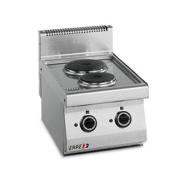 ERRE2 CE7030 T Επιτραπέζια Κουζίνα Ηλεκτρική Με 2 Εστίες - 400x700x280mm επαγγελματικός εξοπλισμός   κουζίνες πλατό φριτέζες βραστήρες  επαγγελματικός εξ