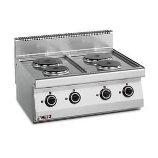 ERRE2 CE7050 T Επιτραπέζια Κουζίνα Ηλεκτρική Με 4 Εστίες - 800x700x280mm επαγγελματικός εξοπλισμός   κουζίνες πλατό φριτέζες βραστήρες  επαγγελματικός εξ