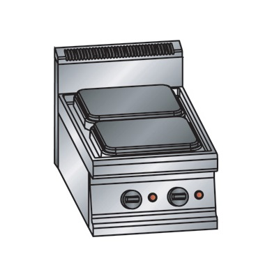 ERRE2 CG9030 T Επιτραπέζια Κουζίνα Ηλεκτρική Με 2 Εστίες - 400x900x280mm επαγγελματικός εξοπλισμός   κουζίνες πλατό φριτέζες βραστήρες  επαγγελματικός εξ