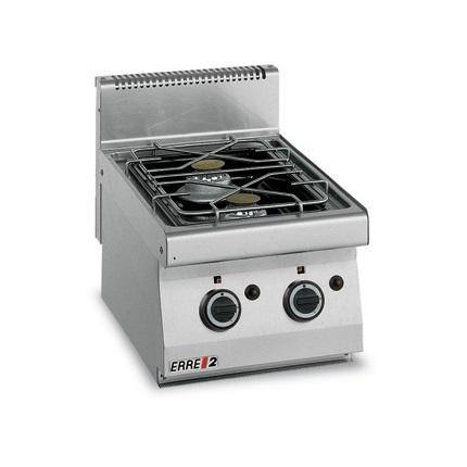 ERRE2 CG7020T Επιτραπέζια Κουζίνα Αερίου Με 2 Εστίες - 400x700x280mm επαγγελματικός εξοπλισμός   κουζίνες πλατό φριτέζες βραστήρες  επαγγελματικός εξ