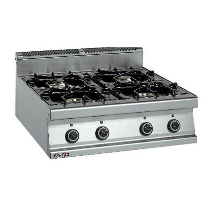 ERRE2 CG9040 T Επιτραπέζια Κουζίνα Αερίου Με 4 Εστίες - 800x900x280mm επαγγελματικός εξοπλισμός   κουζίνες πλατό φριτέζες βραστήρες  επαγγελματικός εξ