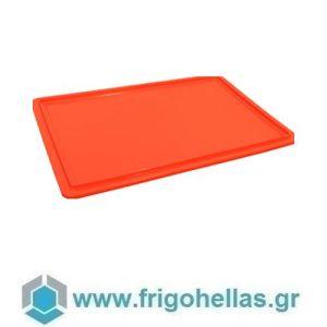 10002 (60x40cm) Κόκκινο (RAL3020) Καπάκι για Δοχεία Τροφίμων VAS007/010/013