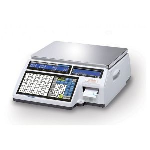 CAS CL5500-6-B Ηλεκτρονική Ζυγαριά Λιανικής Με Ετικέτα & Χαρτοταινία (Ικανότητα Ζύγισης: 3/6Kg - Υποδιαίρεση: 1/2gr) (Δώρο 1 Μαχαίρι VictorInox)