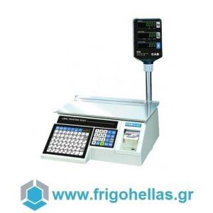 CAS LP-1R-15K Ηλεκτρονική Ζυγαριά Λιανικής Με Ετικέτα & Χαρτοταινία & Κολώνα  (Ικανότητα Ζύγισης: 6/15Kg - Υποδιαίρεση: 2/5gr) (Δώρο 1 Μαχαίρι VictorInox)