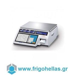 CAS CL5000J-15-CB Ηλεκτρονική Ζυγαριά Λιανικής Με Ετικέτα (Ικανότητα Ζύγισης: 6/15Kg - Υποδιαίρεση: 2/5gr) (Δώρο 1 Μαχαίρι VictorInox)