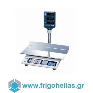 CAS AP-30EX Ηλεκτρονική Ζυγαριά Με Κολώνα Λιανικής & Λαικών Αγορών (Ικανότητα Ζύγισης: 15/30Kg - Υποδιαίρεση: 5/10gr)