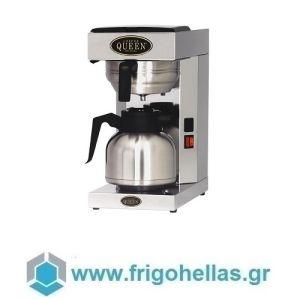 COFFEE QUEEN Office Thermos Μηχανή Καφέ Φίλτρου Ανοξείδωτη Με Θερμός  (Υποστηρίζεται από εξουσιοδοτημένο Service)