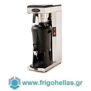 COFFEE QUEEN Mega Gold-M Μηχανή Καφέ Φίλτρου Ανοξείδωτη Με Θερμός (Υποστηρίζεται από εξουσιοδοτημένο Service)
