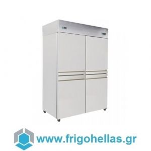 Niki Inox  TH DK 140M Ψυγείο Συντήρησης & Κατάψυξης-140x80x215cm (Υποστηρίζεται από εξουσιοδοτημένο Service)