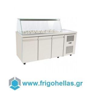 Niki Inox  SA GN 185MA Ψυγεία Βιτρίνες Σαλατών 12 GN 1/4 - 1850x700x1290mm (Υποστηρίζεται από εξουσιοδοτημένο Service)