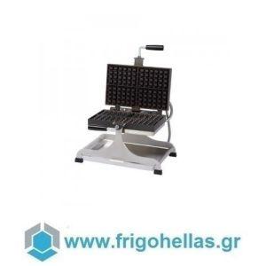 Krampouz WECABD Βαφλιέρα Βρυξελλών Μονή Μικρή & Περιστρεφόμενη κατά 180° - Διαστάσεις βάφλας: 182x113x28mm