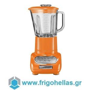 KitchenAid Artisan 5KSB5553ETG Μπλέντερ Πορτοκαλί με Γυάλινη Κανάτα 1,5Lit.