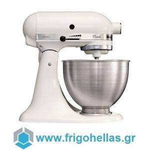 KitchenAid 5K45SSEWH Οικιακό Μίξερ Ζαχαροπλαστικής Λευκό 250Watt - 4,28Lit (Υποστηρίζεται από εξουσιοδοτημένο service στην Ελλάδα)