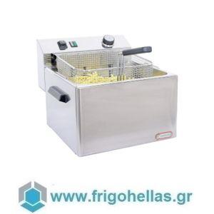 CF FE10T Επαγγελματική Φριτέζα Ηλεκτρική 10Lit - 6,3Kw - 380Volt (Ιταλίας)