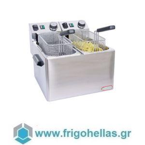 CF FE44 Επαγγελματική Φριτέζα Ηλεκτρική 4+4 Lit - 4,1Kw - 230Volt (Ιταλίας)