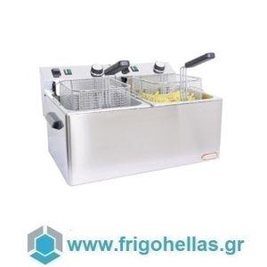 CF FE77 Επαγγελματική Φριτέζα Ηλεκτρική 7+7 Lit - 6Kw - 230Volt (Ιταλίας)