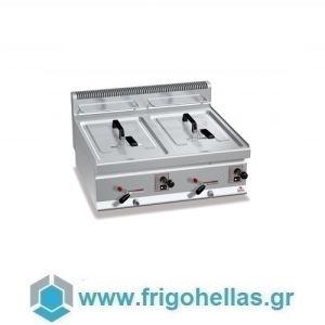 BERTOS GL10+10B Επιτραπέζια Φριτέζα Αερίου 10+10Lit - 800x700x290mm