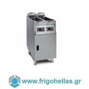 Fri Fri BASIC422 Επιδαπέδια Φριτέζα Ηλεκτρική 9+9Lit Με Χειροκίνητο Πάνελ - 400x650x950mm