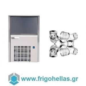ICETECH SS45 (42kg/24h) Παγομηχανές Ψεκασμού  - Μηχανές Παγοκύβων Με Αποθήκη (Παγάκι:22gr)