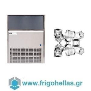 ICETECH SS60 (54Kg/24h) Παγομηχανές Ψεκασμού - Μηχανές Παγοκύβων Με Αποθήκη (Παγάκι:22gr)