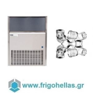 ICETECH SS150 (148Kg/24h) Παγομηχανές Ψεκασμού - Μηχανές Παγοκύβων Με Αποθήκη (Παγάκι:22gr)