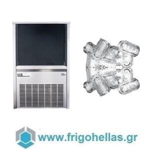 ICETECH PS22 (19Kg/24h) Παγομηχανές Ανάδευσης για Σκληρά Νερά - Μηχανές Παγοκύβων Με Αποθήκη (Παγάκι με Τρύπα: 22gr)