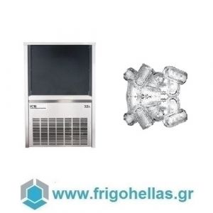 ICETECH PS32 (29Kg/24h) Παγομηχανές Ανάδευσης για Σκληρά Νερά - Μηχανές Παγοκύβων Με Αποθήκη (Παγάκι με Τρύπα: 22gr)