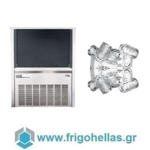 ICETECH PS122 (120Kg/24h) Παγομηχανές Ανάδευσης για Σκληρά Νερά  - Μηχανές Παγοκύβων Με Αποθήκη (Παγάκι με Τρύπα: 22gr)