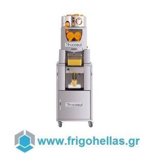 Frucosol Freezer Επιδαπέδιος Πορτοκαλοστίφτης Αυτόματος με Αυτόματη Τροφοδοσία & Ψυχόμενο Δοχείο - Αποχυμωτής Εσπεριδοειδών - Παραγωγή: 20-25 Φρούτα / Λεπτό