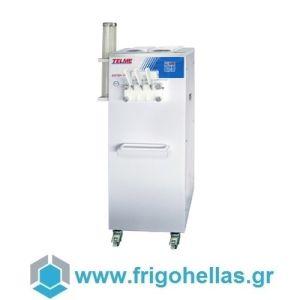 TELME SOFTGEL 336 Επιδαπέδιες Μηχανές Soft & Frozen Yogurt με 3 Γεύσεις - Παραγωγή: 360 Χωνάκια των 75gr/ h