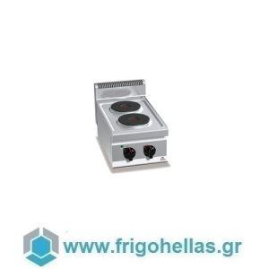 BERTOS E7P2B Επιτραπέζια Κουζίνα Ηλεκτρική Με 2 Εστίες - 400x700x290mm