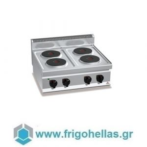 BERTOS E7P4B Επιτραπέζια Κουζίνα Ηλεκτρική Με 4 Εστίες - 800x700x290mm