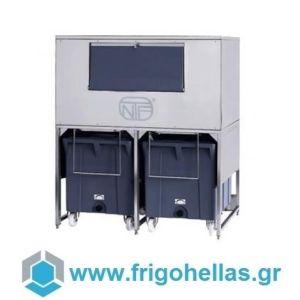NTF DRB1100  Αποθήκη Παγομηχανών Χωρητικότητα: 300 kg (Εξουσιοδοτημένο service του Κατασκευαστή)
