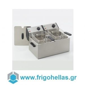 ROLLER GRILL FD80D Επαγγελματική Φριτέζα Ηλεκτρική 8+8 Lit - 7,2Kw - 230Volt (Γαλλίας) (Υποστηρίζεται από Εξουσιοδοτημένο Service)