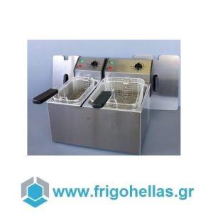 ROLLER GRILL FD 50+80 Επαγγελματική Φριτέζα Ηλεκτρική 5+8 Lit - 6,8Kw - 230Volt (Γαλλίας) (Υποστηρίζεται από Εξουσιοδοτημένο Service)