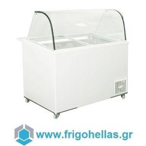 Alfa Frigor BX11 Πομπέ (11 γεύσεις) Επαγγελματικό Ψυγείο Βιτρίνα Χύμα Παγωτού-Ελληνικής Κατασκευής-1440x740x1220mm