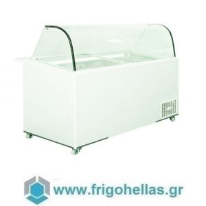 Alfa Frigor BX14 (14 γεύσεις) Επαγγελματικό Ψυγείο Βιτρίνα Χύμα Παγωτού-Ελληνικής Κατασκευής-1640x740x1220mm