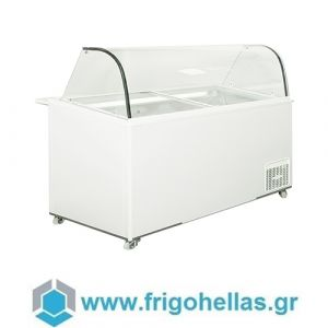 Alfa Frigor BX14 Πομπέ (14 γεύσεις) Επαγγελματικό Ψυγείο Βιτρίνα Χύμα Παγωτού-Ελληνικής Κατασκευής-1640x740x1250mm