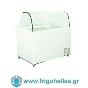 Alfa Frigor BX9 (9 γεύσεις) Επαγγελματικό Ψυγείο Βιτρίνα Χύμα Παγωτού-Ελληνικής Κατασκευής-1130x740x1220mm