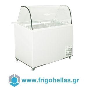 Alfa Frigor BX9 Πομπέ (9 γεύσεις) Επαγγελματικό Ψυγείο Βιτρίνα Χύμα Παγωτού-Ελληνικής Κατασκευής-1130x740x1250mm