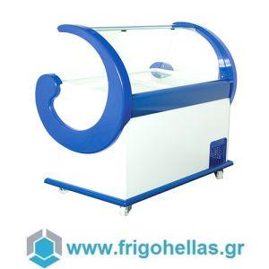 Alfa Frigor Spaniola (11 γεύσεις) Επαγγελματικό Ψυγείο Βιτρίνα Χύμα Παγωτού-Ελληνικής Κατασκευής-1500x940x1320mm