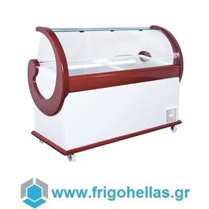 Alfa Frigor Spaniola (14 γεύσεις) Επαγγελματικό Ψυγείο Βιτρίνα Χύμα Παγωτού-Ελληνικής Κατασκευής-1700x940x1320mm